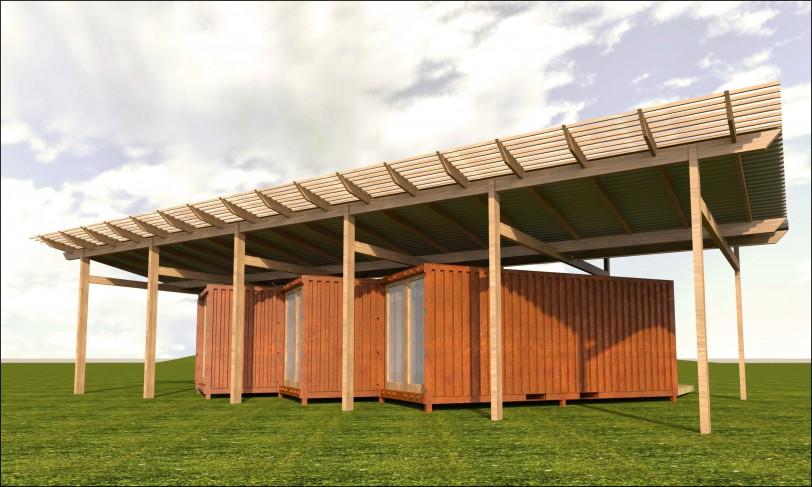 Eco pods halliday clark bradford architects - Ecopod container home ...